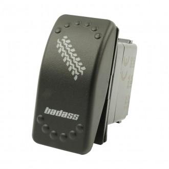 Wippenschalter BADASS horntools Offroad Switch Wipp Schalter mit LED Beleuchtung horntools Rocker Sw