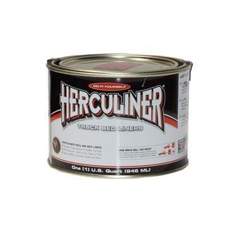 Herculiner 1,8m2 schwarz Beschichtung für Ladefläche PU Laderaumbeschichtung Ladefläche Ladewanne Be