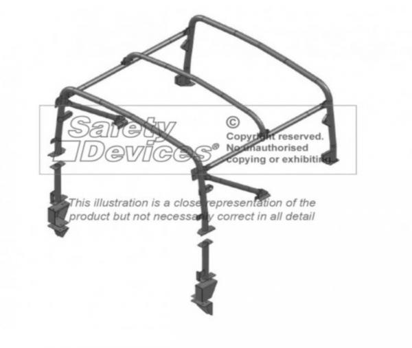 Überrollkäfig Full external rear cage für Defender 90 Cabrio