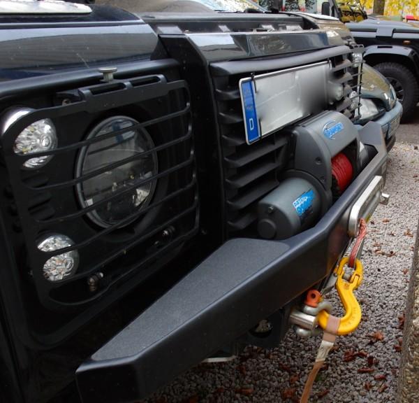Defender Windenstoßstange mit Tüvteilegutachten Land Rover, Seilwinde