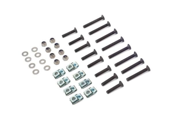 Türscharnier Montage-Kit, Edelstahl (schwarz)