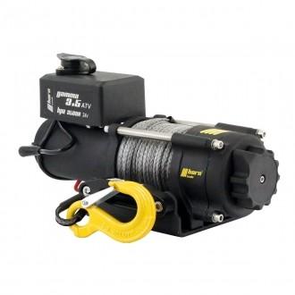 Seilwinde 1,6to Gamma 3.5 ATV 12V Kunststoffseil horntools Elektrowinde