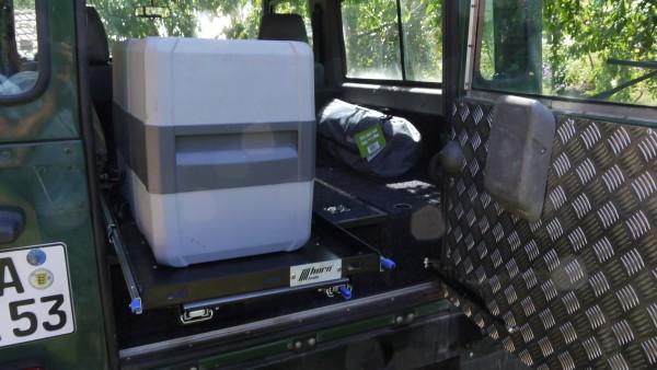 Kühlbox Auszug mit ausziehbarem Tisch 780mmx470mm PickUp Vollauszug Cargo Slide Kühlschrank Box