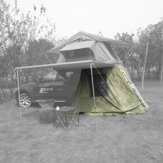 Vorzelt für Dachzelt Trapper Joe 140cm grün horntools