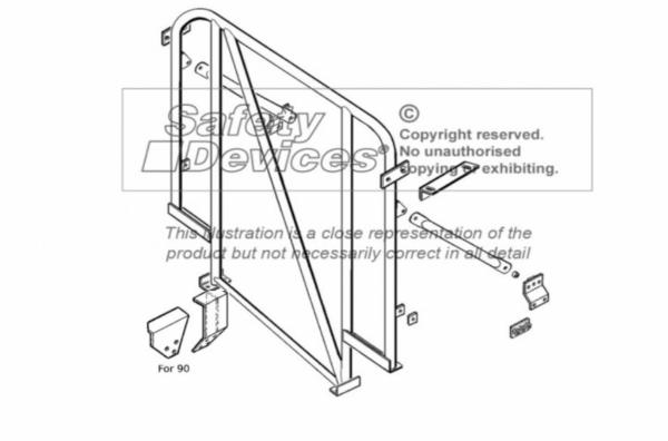 Single Hoop Überrollbügel für Defender 90 Hard Top / CSW mit Diagonale / für Fahrzeuge ohne Dachhimm