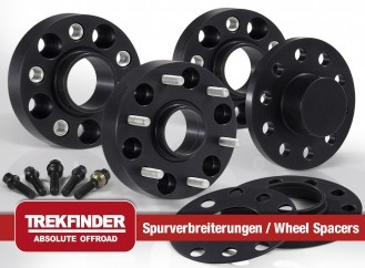 JEEP® Cherokee Typ KL Spurverbreiterung TREKFINDER für JEEP® Cherokee Typ KL mit + 60 Millimeter Sp