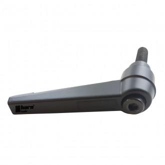 Klemmhebel verstellbar M8 x 60mm mit Kerbverzahnung Maschinengriff Knob Griff
