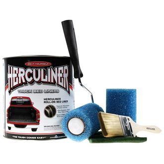 Herculiner 7m2 Kit grau Beschichtung für Ladefläche PU Laderaumbeschichtung Ladefläche Ladewanne Bes