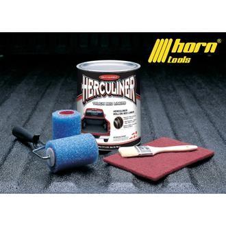 Herculiner 7m2 Kit schwarz Beschichtung für Ladefläche PU Laderaumbeschichtung Ladefläche Ladewanne