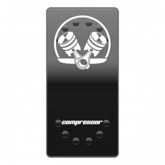 Wippenschalter Cover Compressor horntools Offroad Switch Wipp Schalter Laserbeschriftet für Hintergr