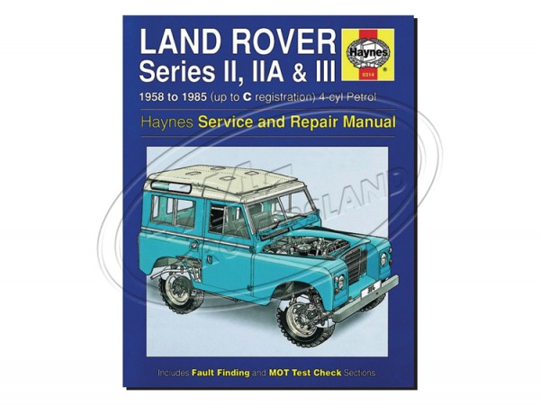 Reparaturbuch Series II, IIa und III