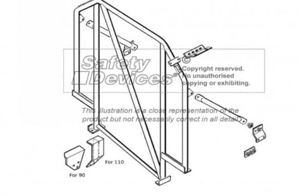 Single Hoop Überrollkäfig Defender 90 Hard Top / CSW - mit Diagonale / für Fahrzeuge mit Dachhimmel