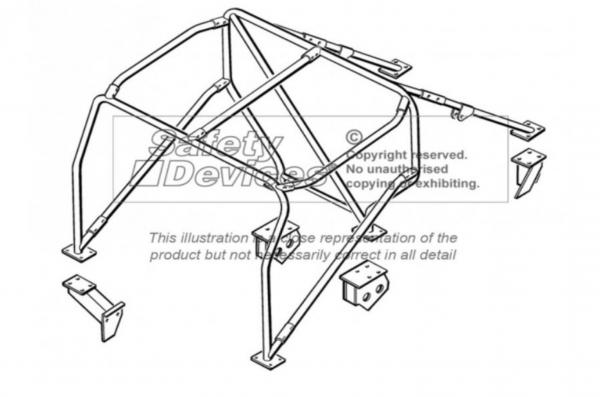 Motorsport 6 Punkt Überrollkäfig innen MSA/FIA/ARC/AWDC Spezifikationen